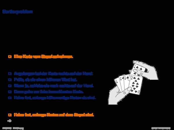 Beispiele für Probleme und algorithmische Lösungen Sortierproblem
