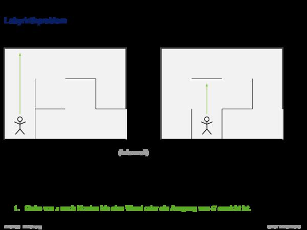 Beispiele für Probleme und algorithmische Lösungen Labyrinthproblem
