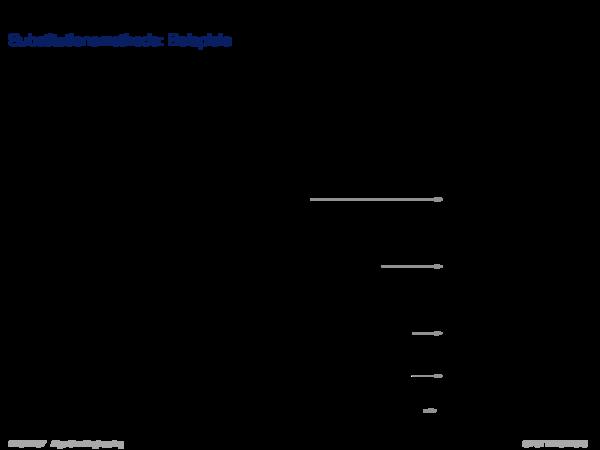Asymptotische Analyse Substitutionsmethode: Beispiele