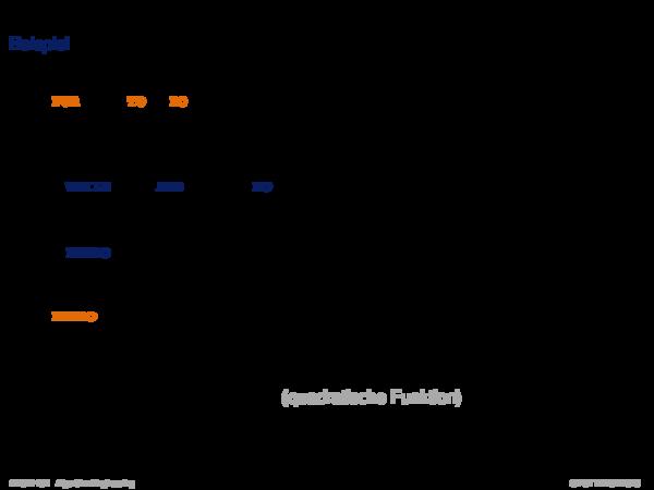 Laufzeitanalyse Beispiel