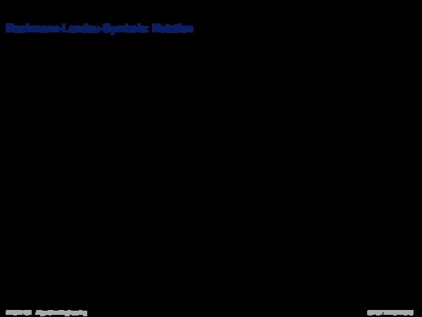 Asymptotische Analyse Bachmann-Landau-Symbole: Notation
