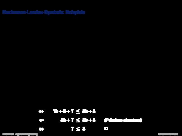 Asymptotische Analyse Rekrusionsbaummethode: Beispiel