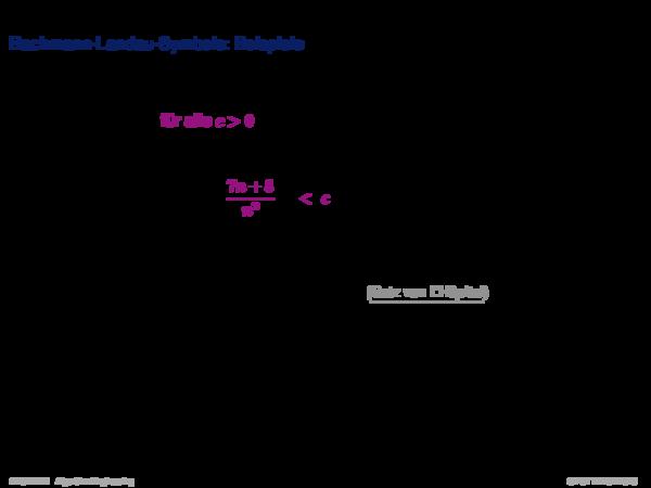 Asymptotische Analyse Substitutionsmethode: Beispiel