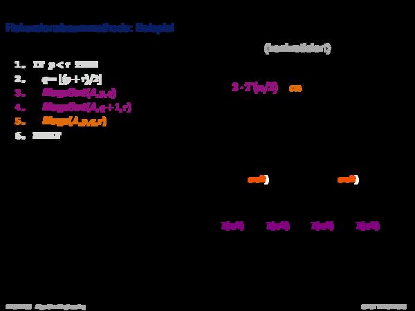 Asymptotische Analyse Rekursionsbaummethode: Beispiel