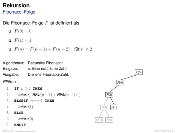Rekursion Fibonacci-Folge