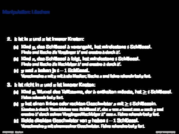 B-Tree Manipulation: Löschen