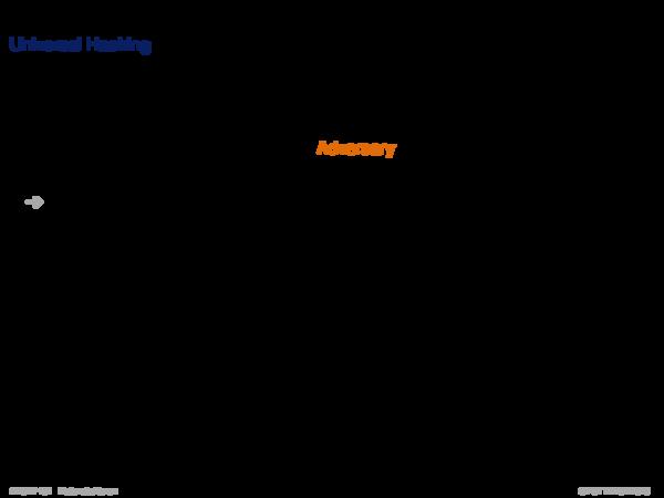 Hash Function Universal Hashing