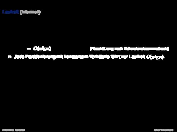 Quicksort Laufzeit (informell)