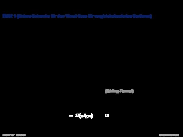 Minimales vergleichsbasiertes Sortieren Satz 1 (Untere Schranke für den Worst Case für vergleichsbasiertes Sortieren)