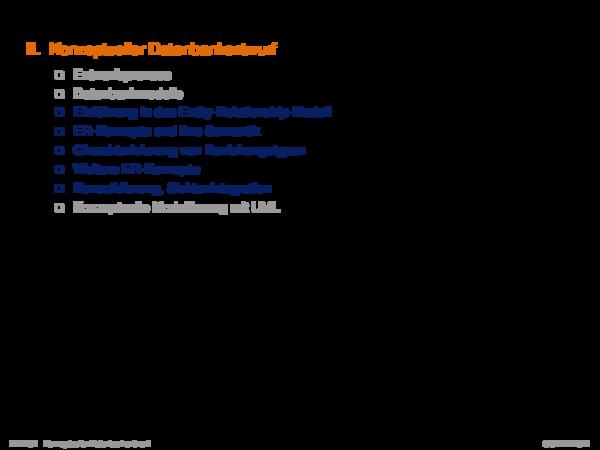 Kapitel DB:III III. Konzeptueller Datenbankentwurf