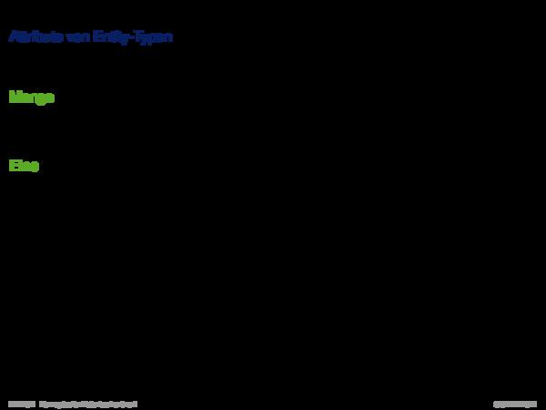 ER-Konzepte und ihre Semantik Attribute von Entity-Typen