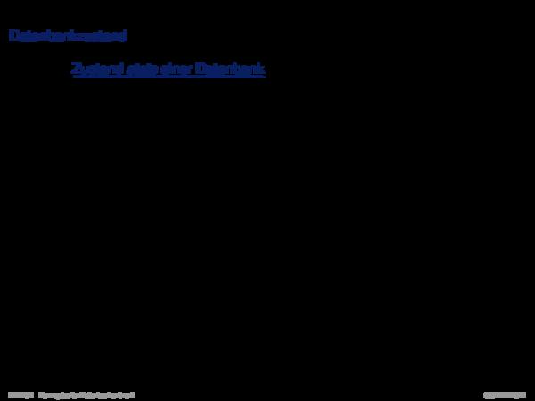 ER-Konzepte und ihre Semantik Datenbankzustand