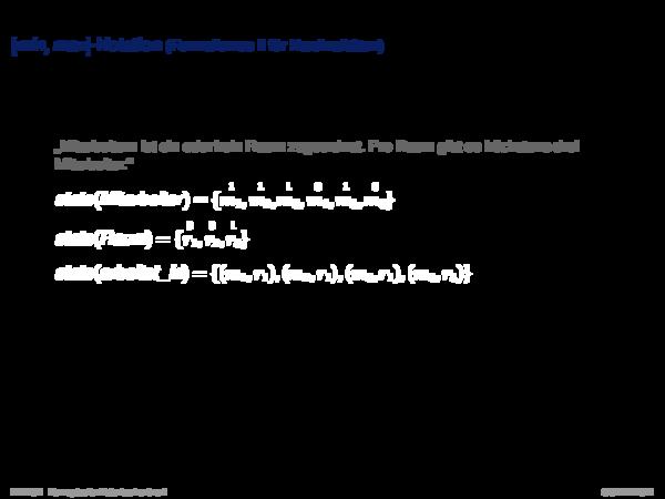 Charakterisierung von Beziehungstypen [min, max]-Notation (Formalismus II für Kardinalitäten)