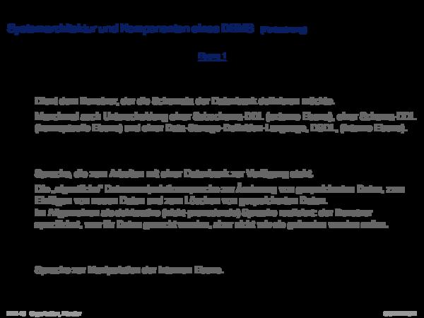 Relationale Datenbanksysteme Merkmale relationaler Datenbank-Management-Systeme (RDBMS)