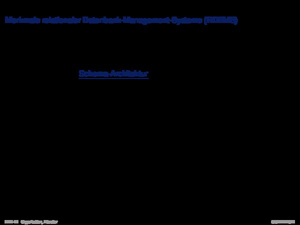 Relationale Datenbanksysteme Beispiel: Daten- und Datenbankdefinition