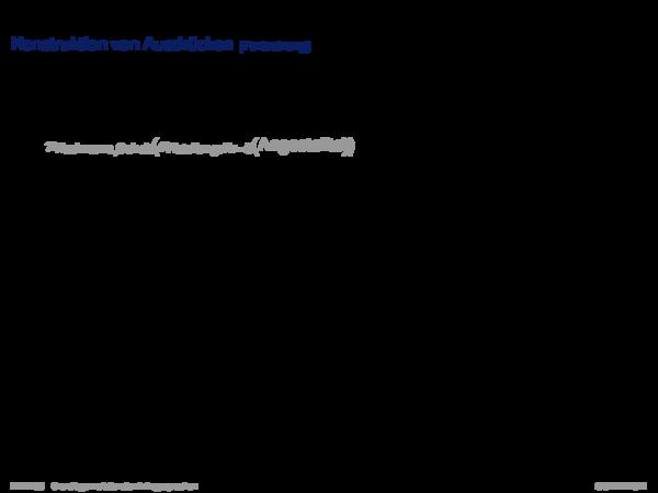 Relationale Algebra Konstruktion von Ausdrücken