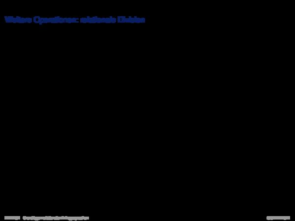 Relationale Algebra Weitere Operationen: relationale Division