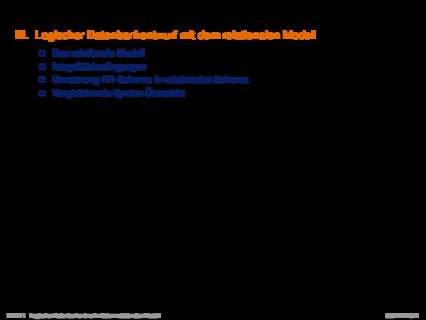 Kapitel DB:IV IV. Logischer Datenbankentwurf mit dem relationalen Modell