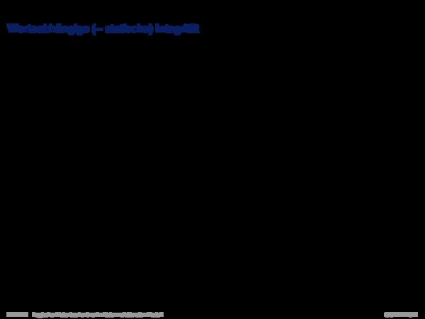 Integritätsbedingungen Werteabhängige (= statische) Integrität