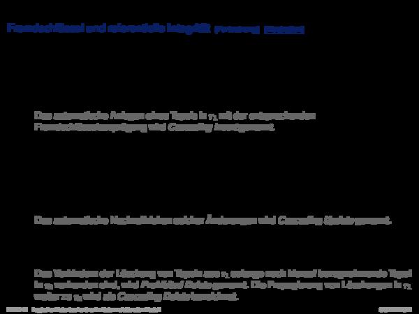 Integritätsbedingungen Definition 6 (Lokale und globale Integritätsbedingung)