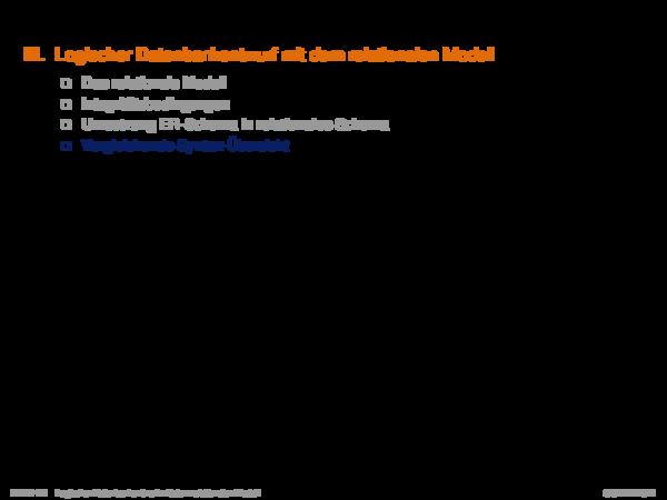 Kapitel DB:III III. Logischer Datenbankentwurf mit dem relationalen Modell