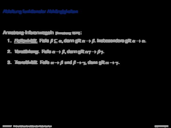 Funktionale Abhängigkeiten Ableitung funktionaler Abhängigkeiten