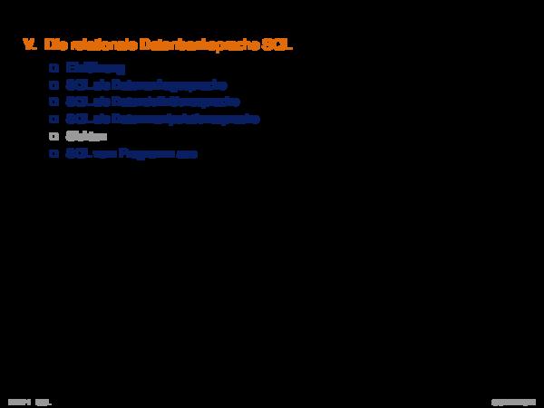 Kapitel DB:VI VI. Die relationale Datenbanksprache SQL