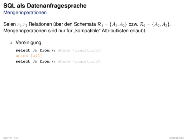 SQL als Datenanfragesprache Aggregat- und Gruppierungsfunktionen