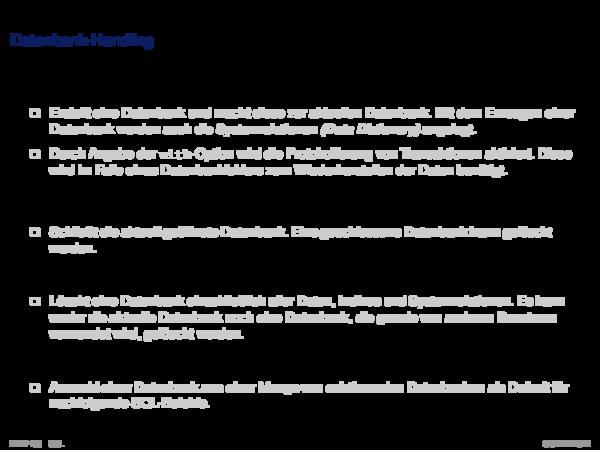 SQL als Datendefinitionssprache Datenbank-Handling