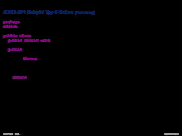 SQL vom Programm aus JDBC-API: Beispiel Typ-4-Treiber
