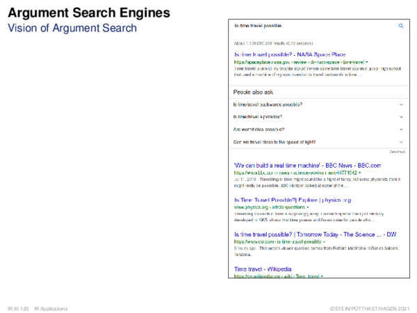 Argument Search Engines* Vision of Argument Search
