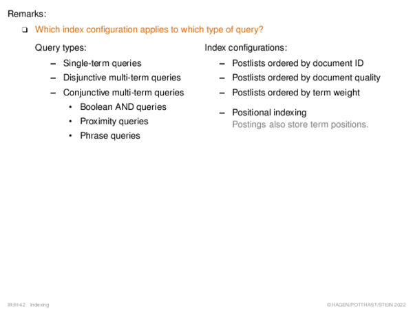 Query Processing I Conjunctive Multi-Term Queries