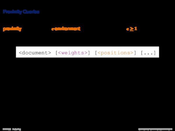 Query Processing I Proximity Queries