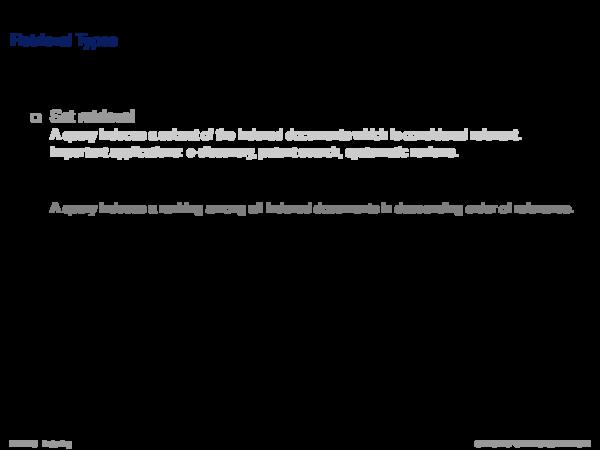Query Processing II Document Scoring