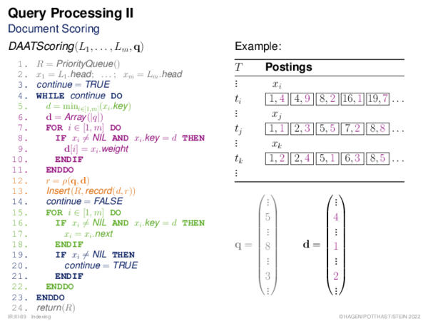 Index Construction In-Memory Index Construction