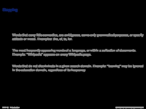 Indexing Process Text Transformation: Segmenter