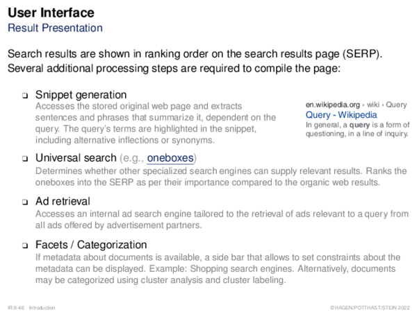 Search Process Ranking: Document Scoring