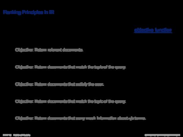 Overview of Retrieval Models History of Retrieval Models