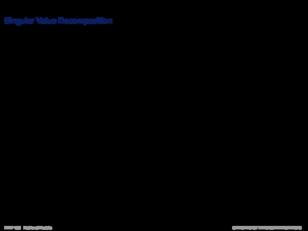 Latent Semantic Indexing Singular Value Decomposition