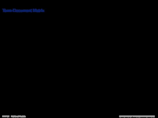 Hidden Variable Models Term-Document Matrix