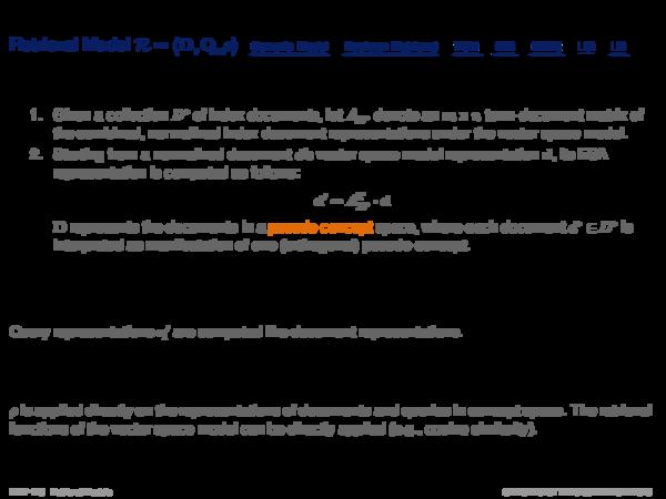 Explicit Semantic Analysis Discussion