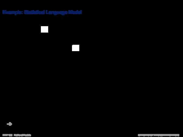 Language Models Example: Statistical Language Model