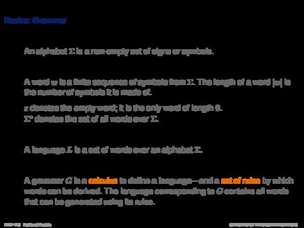 Language Models Basics: Grammar