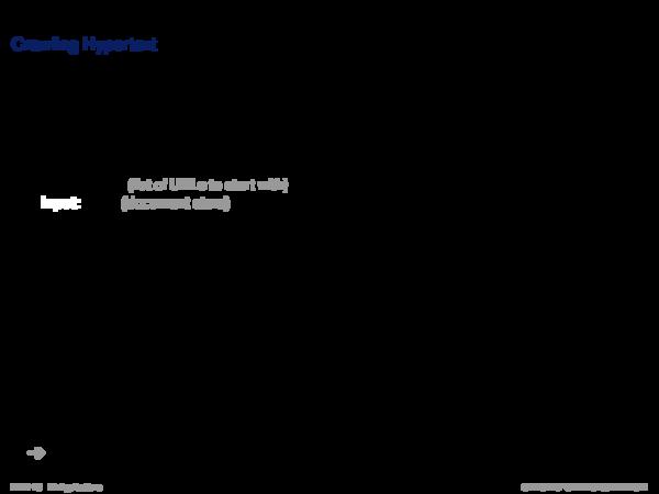 Web Crawling Crawling Hypertext