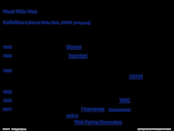 Web Technology World Wide Web