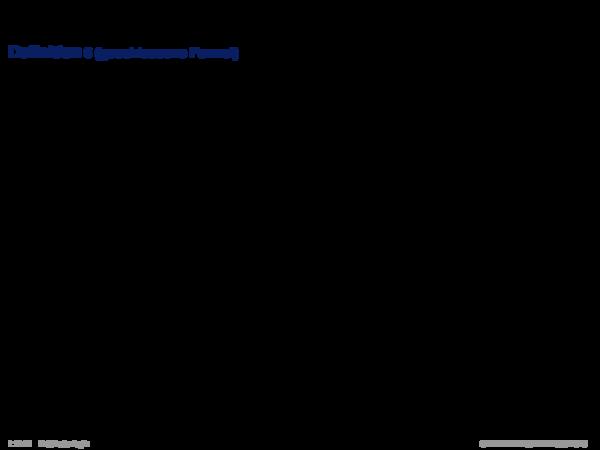 Syntax der Prädikatenlogik Definition 6 (geschlossene Formel)