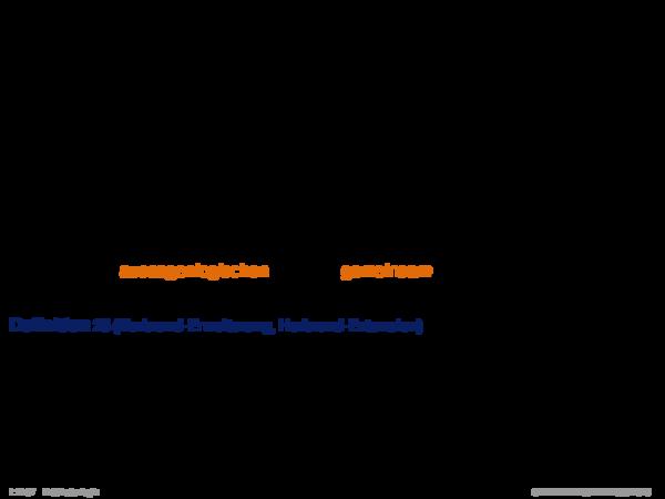 Standard-Erfüllbarkeit Sei α eine geschlossene Formel in Skolem-Normalform und I eine