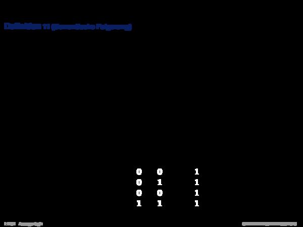 Semantik der Aussagenlogik Definition 11 (Semantische Folgerung)