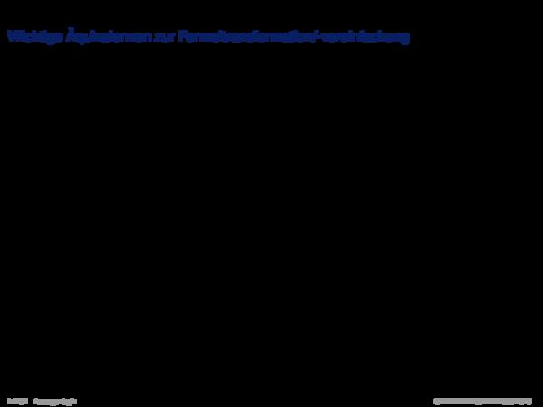 Äquivalenz Wichtige Äquivalenzen zur Formeltransformation/-vereinfachung
