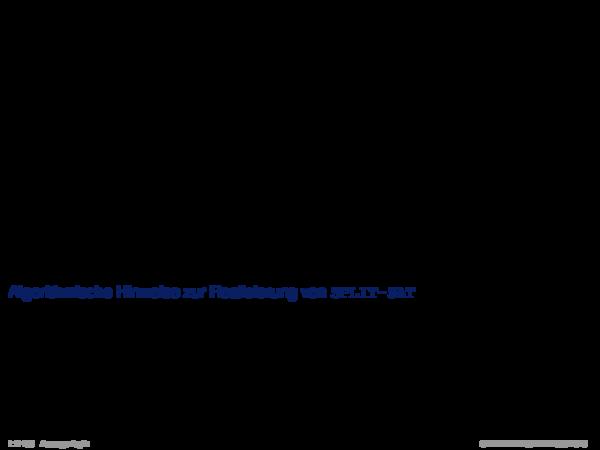 Weiterentwicklung semantischer Bäume Verallgemeinerung von α[A\u002f1].